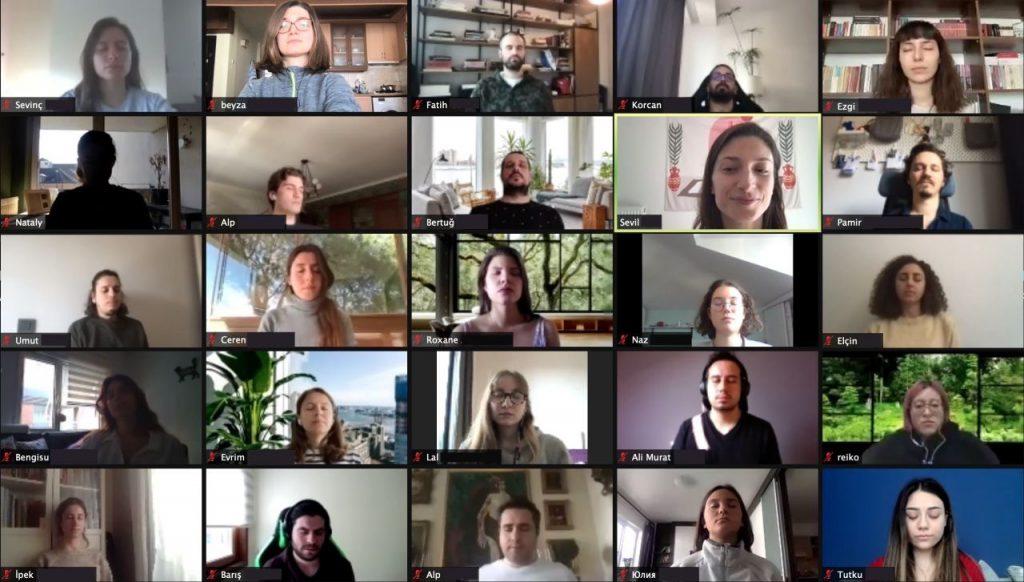 Meditopia team meditates