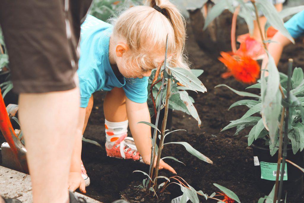 kid gardenning